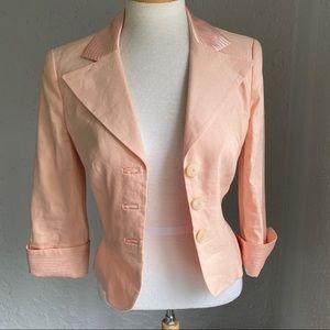 Bebe Linen Peach Jacket Blazer Size 4 Button